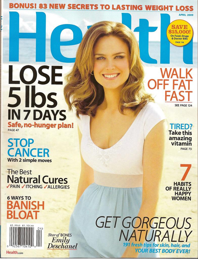 Emily Deschanel in Health Magazine
