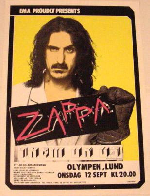 Frank Zappa संगीत कार्यक्रम poster