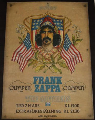Frank Zappa کنسرٹ poster