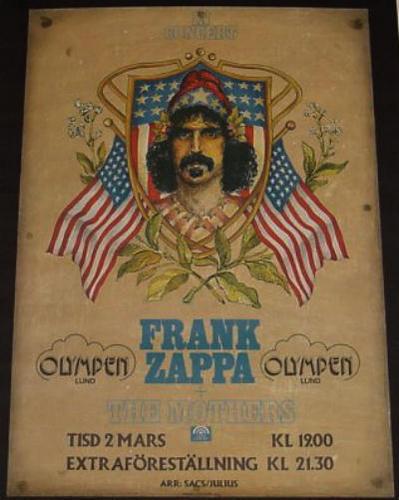 Frank Zappa buổi hòa nhạc poster