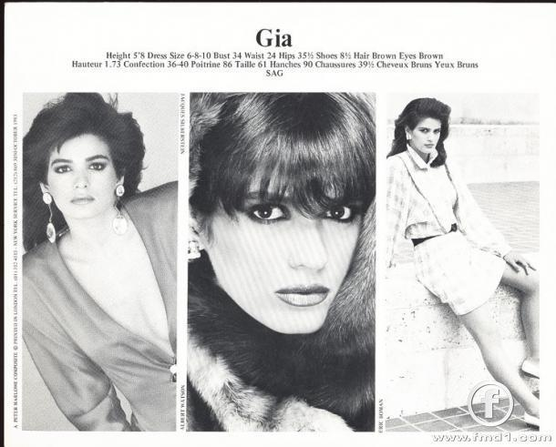 a biography of gia marie carangi Gia marie carangi had so short and glamorous career and an unhappy ending  that  currently we can find her biography in a touching movie.