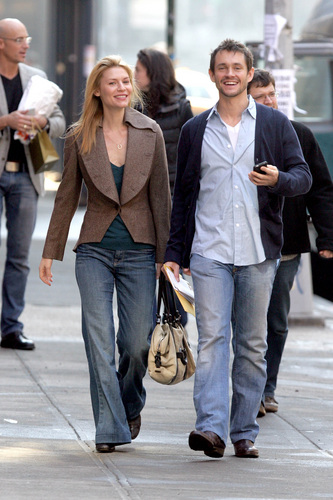 Hugh Dancy wallpaper with a business suit and a street entitled Hugh and Claire