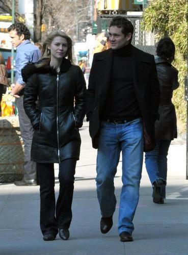 Hugh Dancy wallpaper with a business suit, a hip boot, and a street titled Hugh and Claire