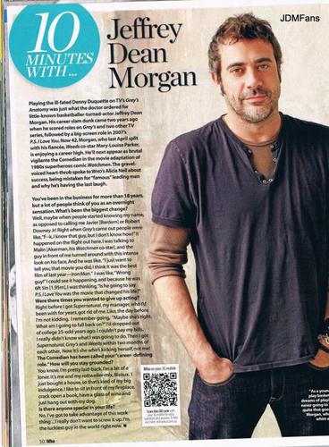Jeffrey Dean 모건 (Who Magazine)