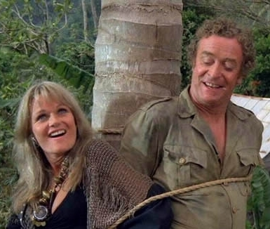 Michael Caine and Valerie Perrine in Water