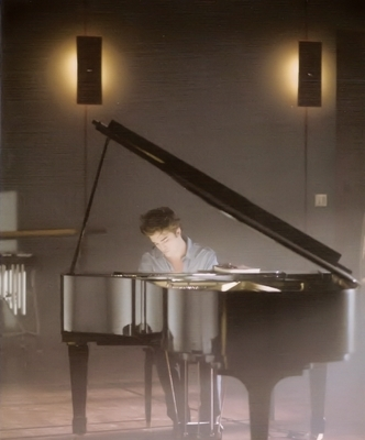 Robert/Edward at piano