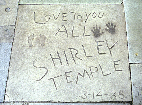 Shirley's Footprints at Grauman's Chinese Theatre