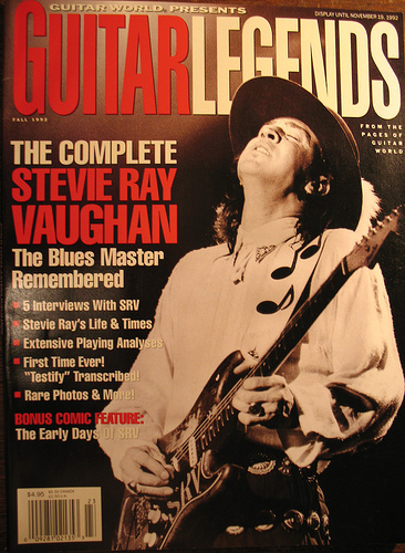 SRV - Guitar World cover