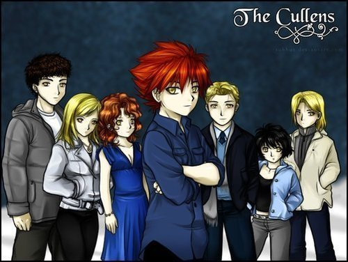 The Cullens (in Anime version)