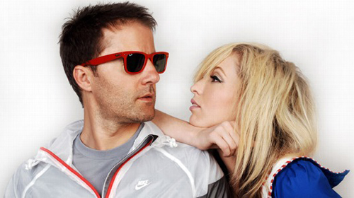 the ting tings Hintergrund with sunglasses called The Ting Tings