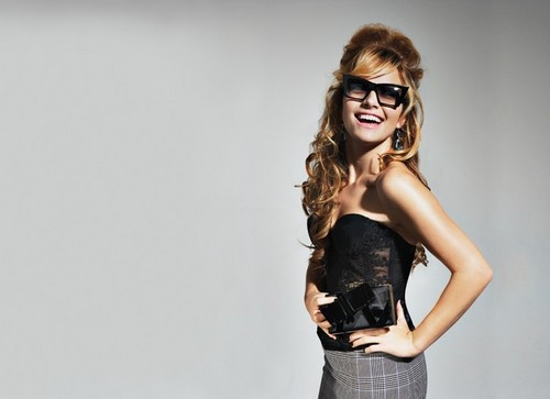 Becki Newton wallpaper with sunglasses entitled WWD Mag Scan