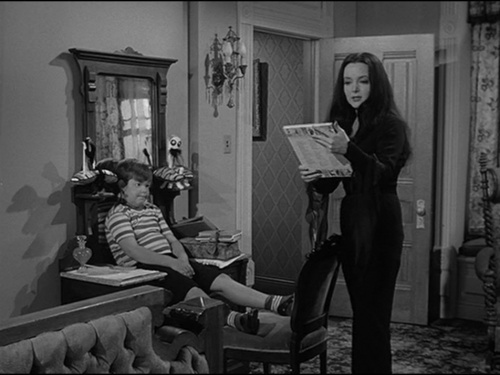 Addams family images addams family goes to school for The addams family living room