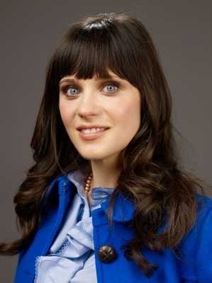 Zooey Deschanel wallpaper possibly containing an outerwear, a box coat, and a portrait titled 500 Days of Summer Sundance Portraits