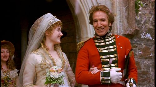 Alan Rickman karatasi la kupamba ukuta probably with a bridesmaid entitled Alan in 'Sense and Sensibility'