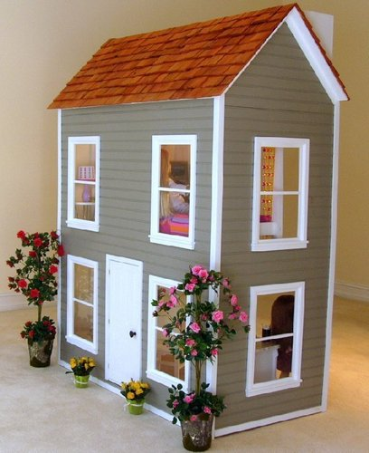 American Girl Dolls wallpaper probably with a window box, a bungalow, and a bouquet entitled American Girl Dollhouse