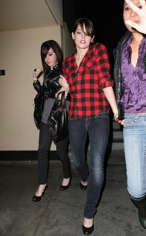 Ashley Greene out at H.Wood Lounge - March 30