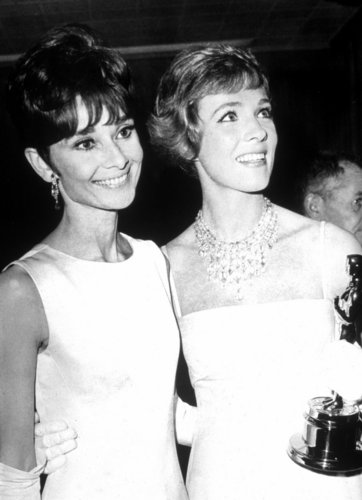 Audrey Hepburn and Julie Andrews - actresses Photo
