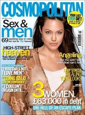 Cosmopolitan Cover Angelina