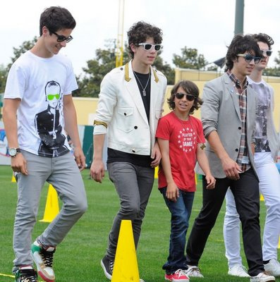 David with Jonas Brothers