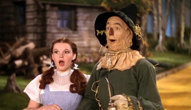 The Wizard of Oz wallpaper possibly containing a portrait called Dorothy and the Scarecrow