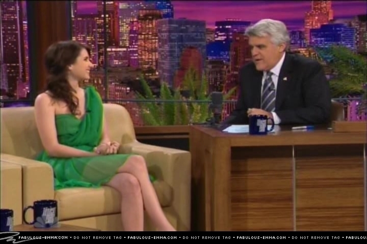 Emma on the Tonight Show with Jay Leno (3/26)