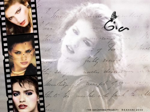Gia Carangi wallpaper probably with a sign and a newspaper entitled Gia
