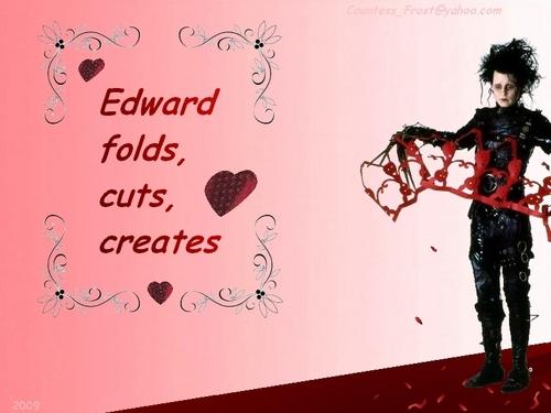 Edward folds, cuts, creates