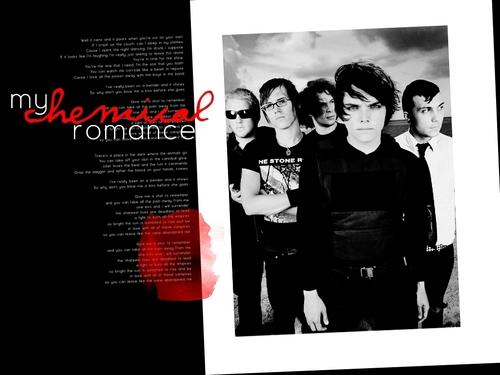 MCR in Red & black ( wallpaper)