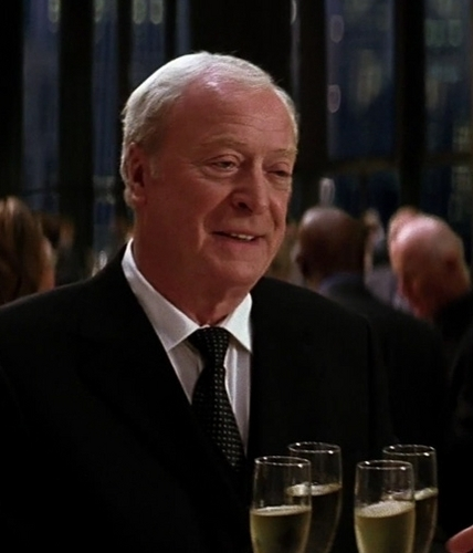 Michael as Alfred in The Dark Knight
