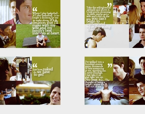 Nathan Scott wallpaper possibly containing a portrait titled Nathan frases <3