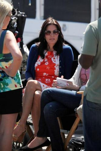 On The Set Of Cougar Town