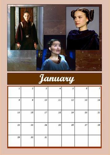 Padmé calendar: January