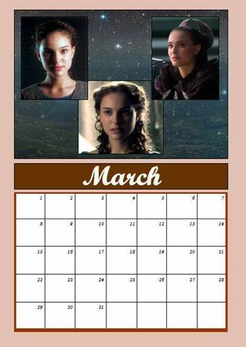 Padmé calendar: March