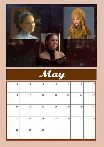 Padmé calendar: May