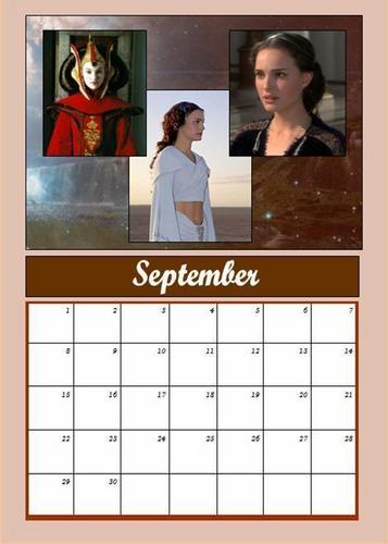 Padmé calendar: September