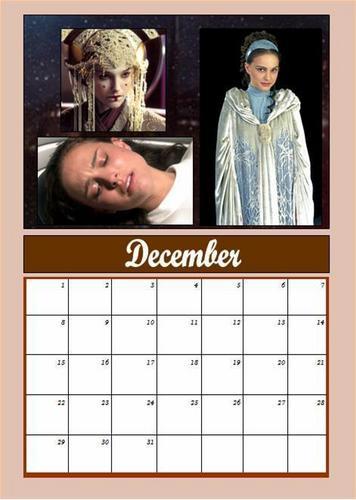 Padmé calendar: December