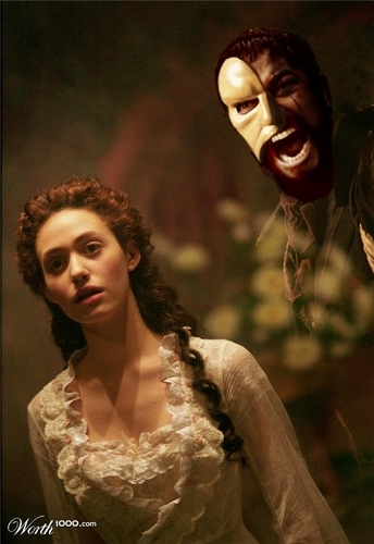 The Phantom Of The Opera wallpaper probably with a mantilla, a mantelet, and a bridesmaid titled Phantom+300!?