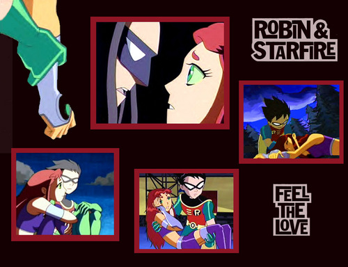Teen Titans achtergrond possibly containing anime entitled Robin & Starfire