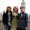 Rupert, Emma and Dan at Big Ben