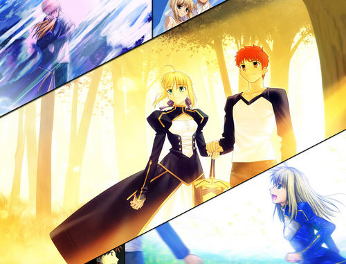 Saber and Shiro together
