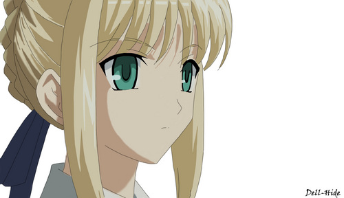 Saber face is beautiful... if i could just kiss her.