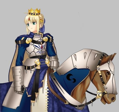 Saber riding her horse