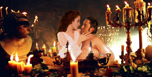 The Phantom Of The Opera wallpaper with a candle and a fire entitled Sexy E/C Photo Manipulations
