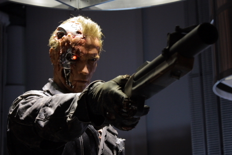 Terminator wallpaper containing a rifleman titled T-800