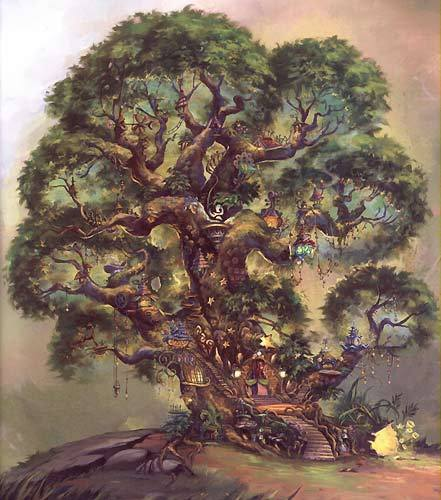 The Home Tree in Pixie Hollow