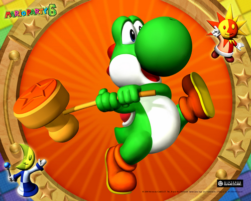 Yoshi wallpaper entitled Yoshi - Mario Party games