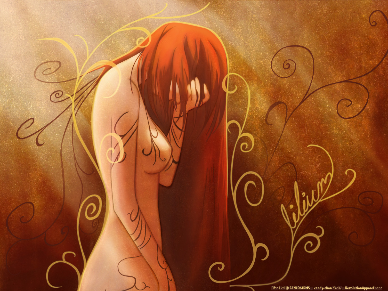 elfen lied art wallapaper