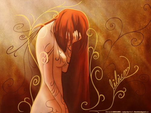 Elfen Lied fondo de pantalla possibly containing a sign called elfen lied art wallapaper