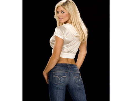 Torrie Wilson پیپر وال with a jean and bellbottom trousers titled torrie wilson