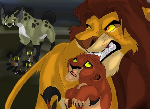 the lion king wallpaper probably containing anime called Ahadi & Taka (Scar)